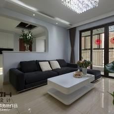 热门面积85平现代二居客厅装修效果图片欣赏