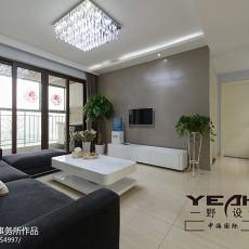 热门面积78平现代二居客厅装修实景图片大全