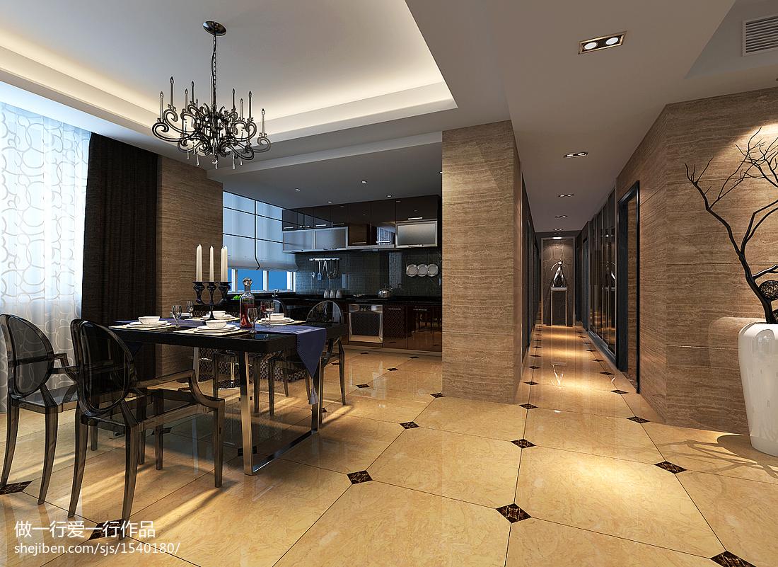 现代简约设计别墅室内餐厅效果图片
