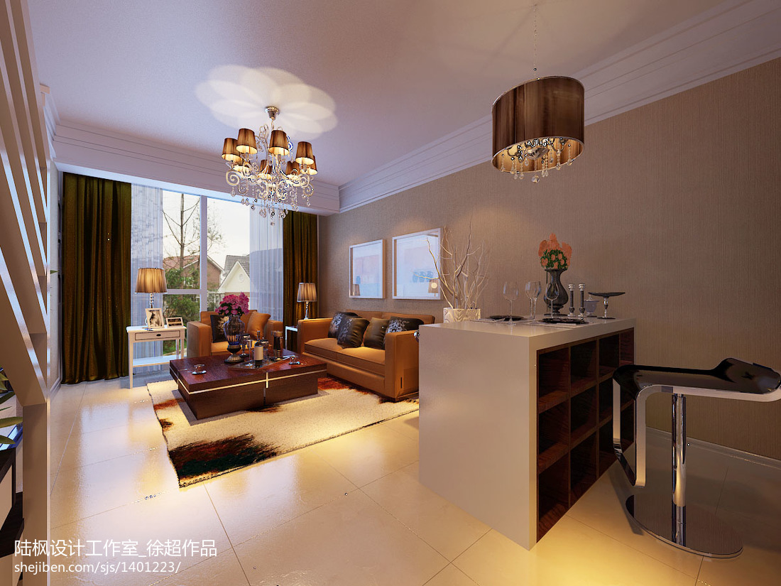 精美面积137平复式客厅现代装修图片欣赏