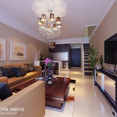 热门面积128平复式客厅现代装修效果图片欣赏