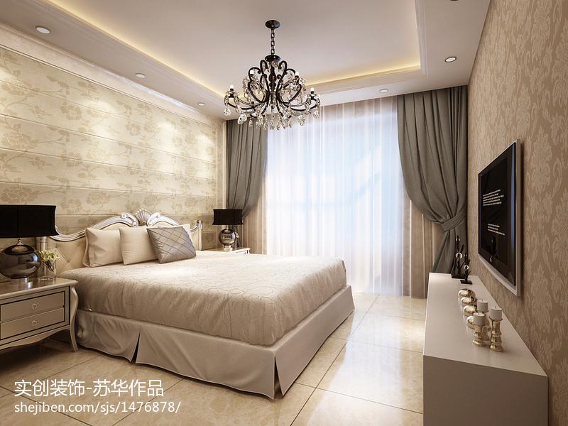 2018精选面积93平现代三居卧室装修效果图片