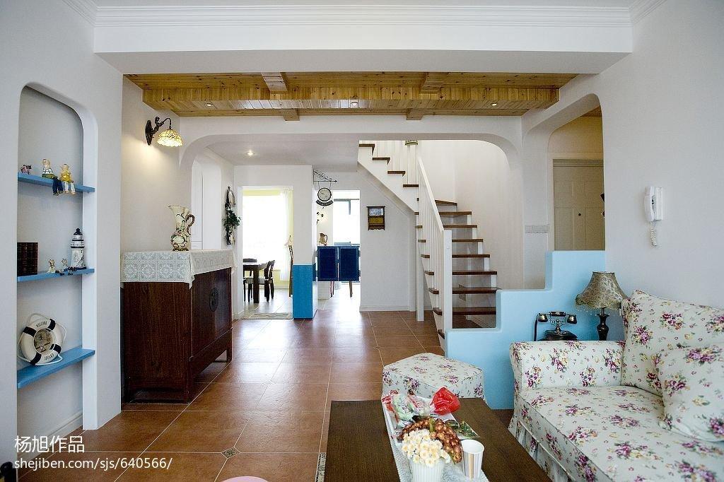 浪漫地中海风格楼梯隔断设计