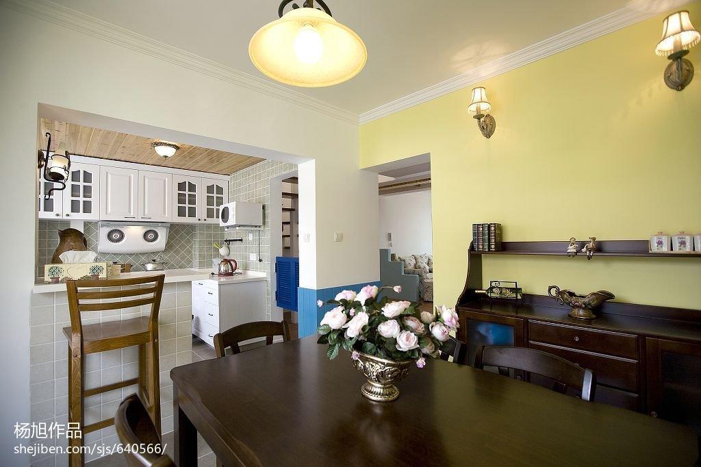 134平米地中海复式厨房效果图片欣赏