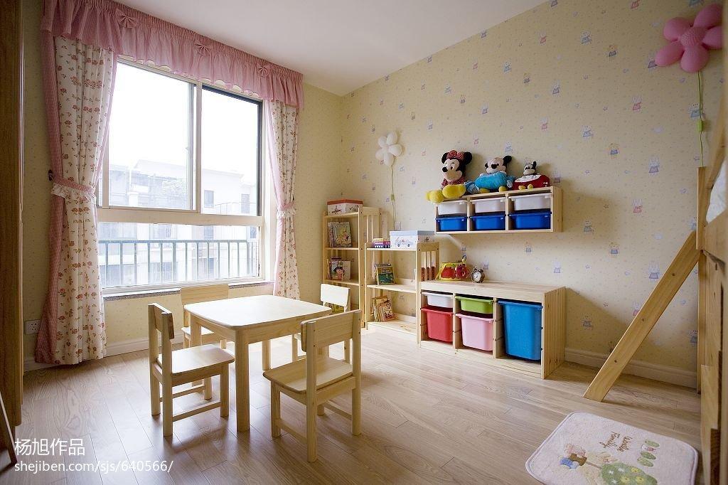 精选面积124平复式儿童房地中海装修实景图