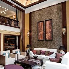 热门东南亚客厅装修效果图片大全