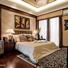 热门东南亚卧室装修设计效果图片欣赏