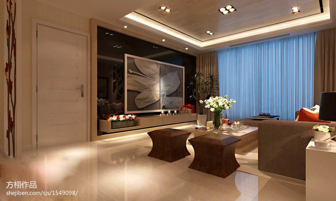现代日式装修客厅图大全