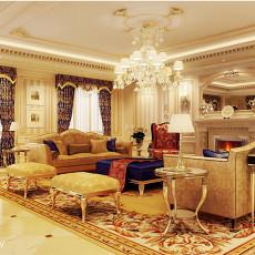 面积116平欧式四居客厅实景图片欣赏