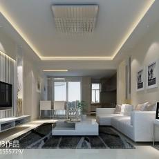 2018精选97平方三居客厅现代装修实景图