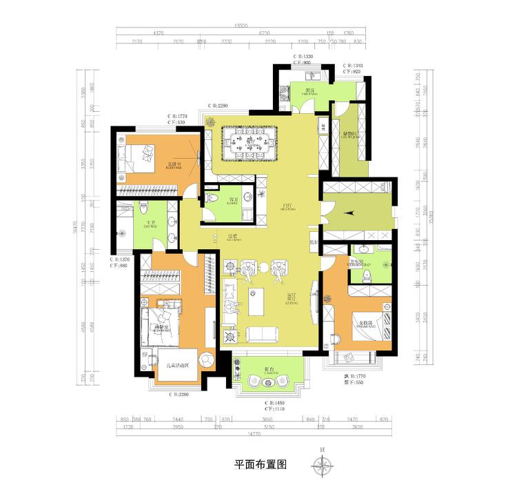 田园清新风格复式客厅设计