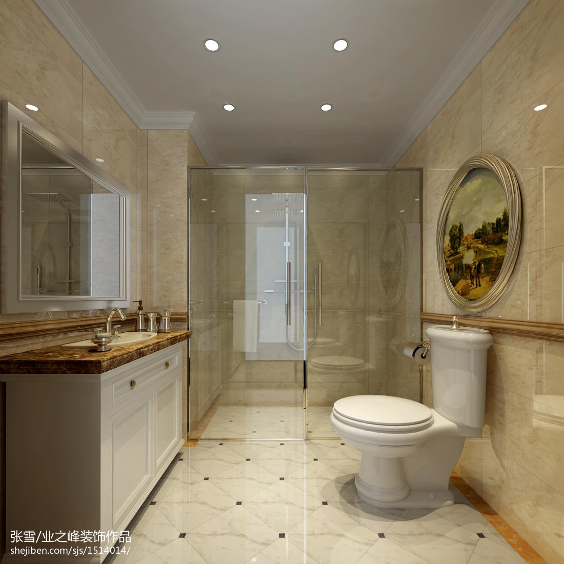 田园清新风格复式卫生间设计