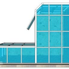 热门现代复式阳台设计效果图