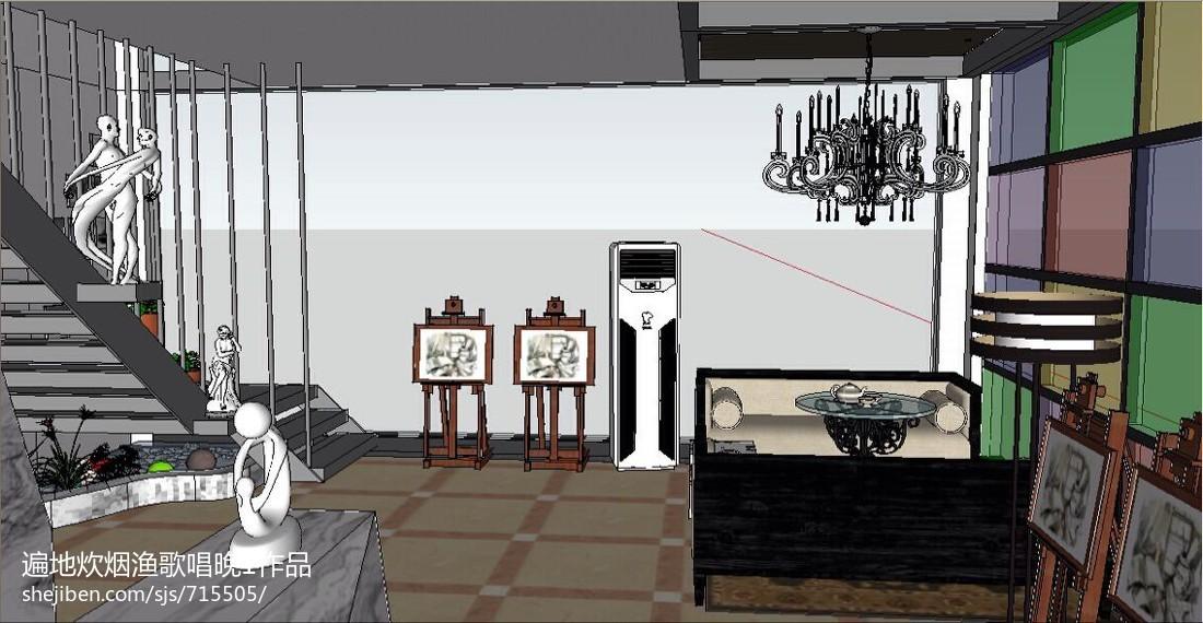 现代风格室内样板房效果图