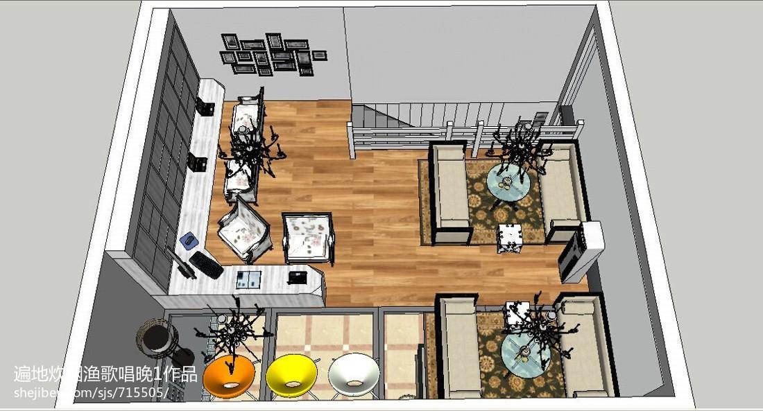 现代装修8平米客厅图片