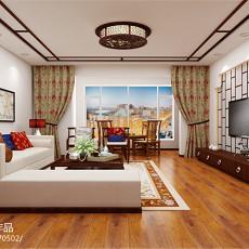 热门面积96平中式三居客厅装修实景图片欣赏