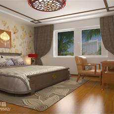 2018精选面积108平中式三居卧室装修效果图片