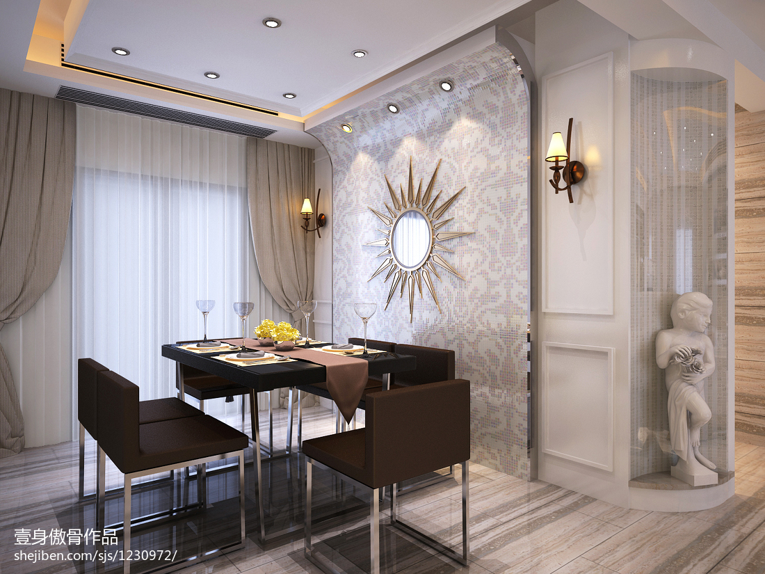 现代风格餐厅吊灯室内设计图片