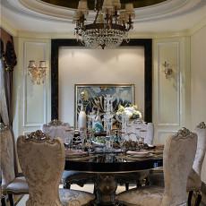 热门120平米欧式别墅餐厅效果图片