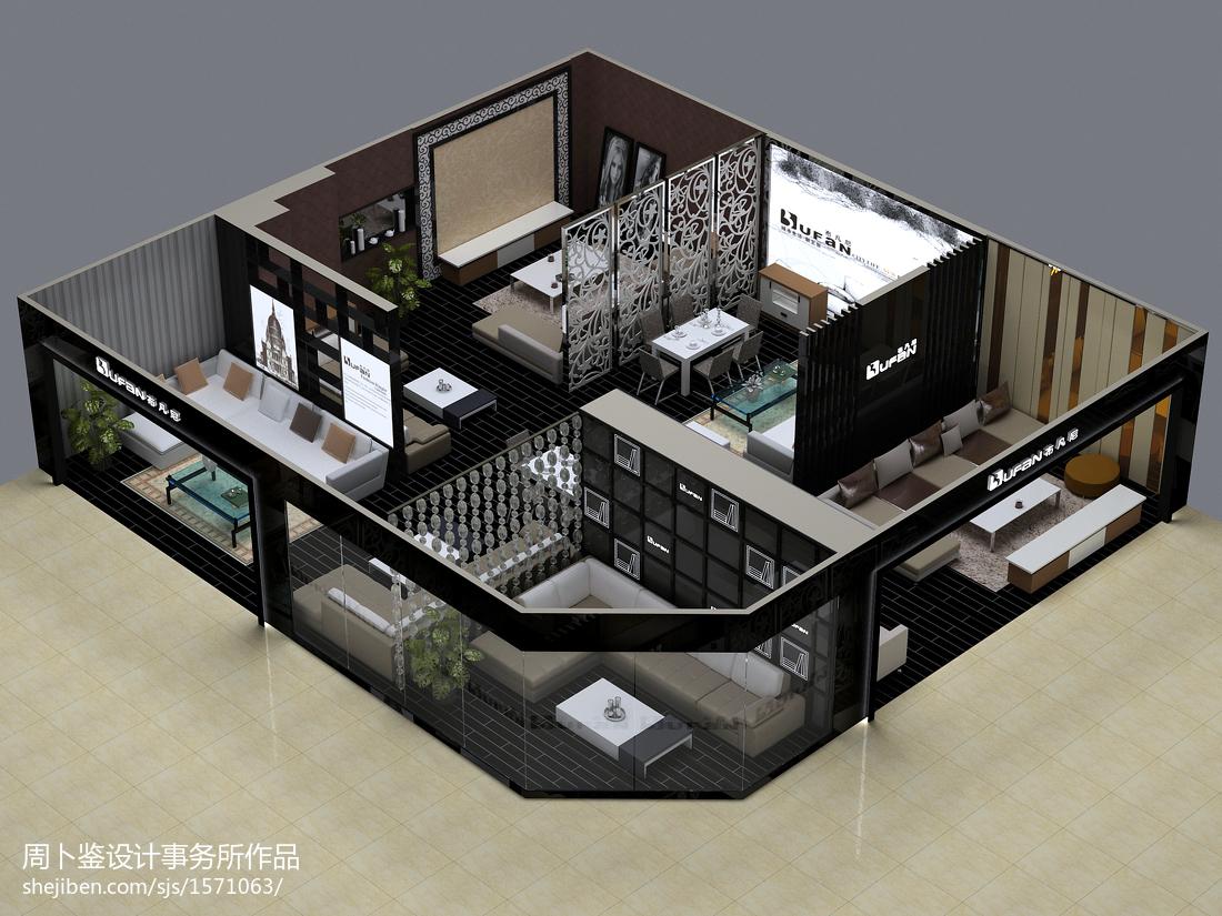 新古典风格室内客厅装饰设计效果图