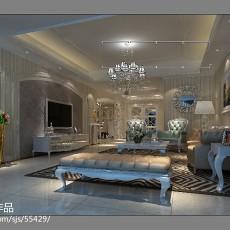 2018精选137平米四居客厅欧式实景图