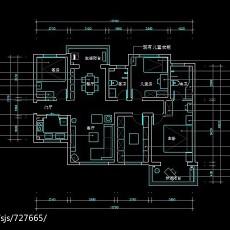 2018精选面积89平小户型客厅现代装修图