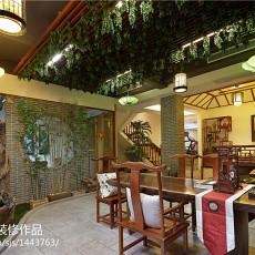 2018精选111平米美式别墅餐厅实景图片欣赏