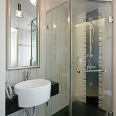 热门99平米三居卫生间现代装修效果图片大全