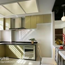 面积91平现代三居厨房欣赏图