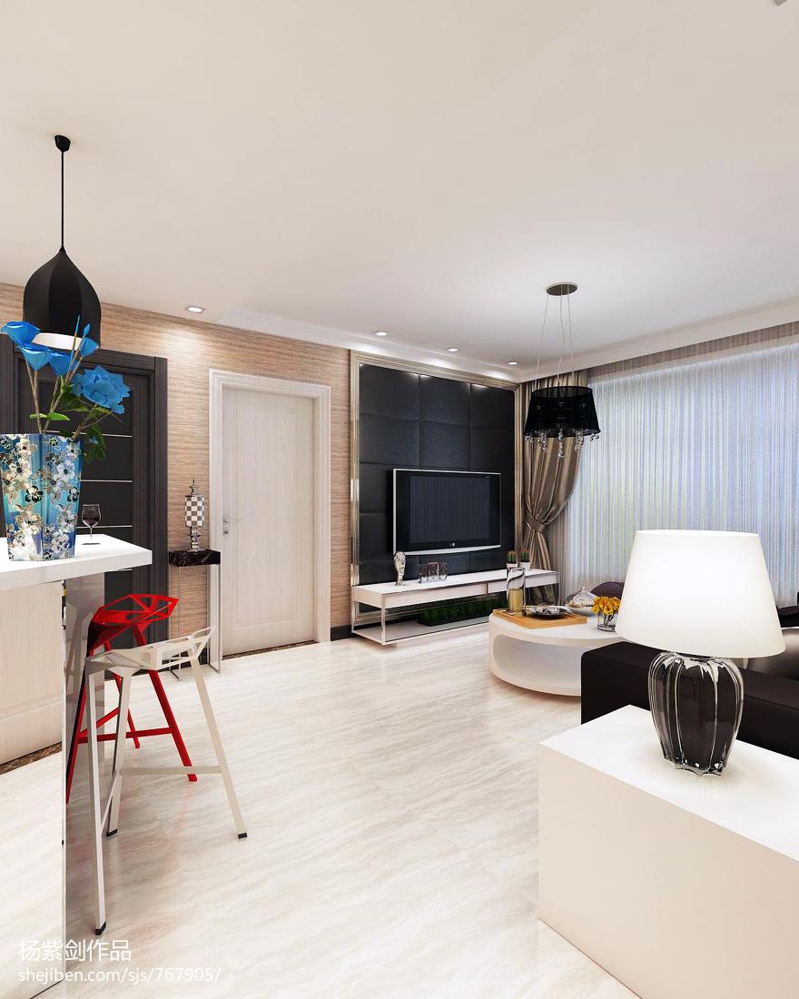 2018精选面积82平小户型客厅现代效果图片