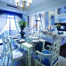 热门133平方新古典别墅餐厅效果图
