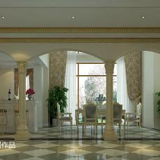 面积131平别墅客厅欧式装修图片