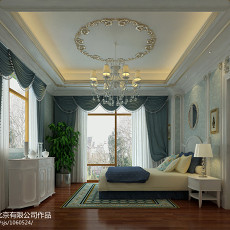 2018精选124平米欧式别墅卧室装修效果图片欣赏