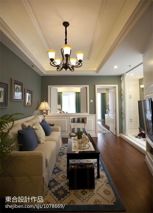 热门欧式客厅设计效果图