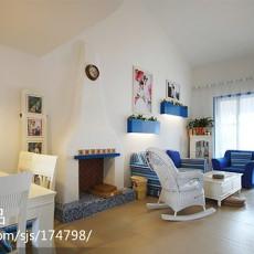 精选130平米田园复式客厅装饰图