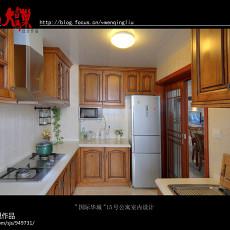 精美面积94平欧式三居厨房装饰图