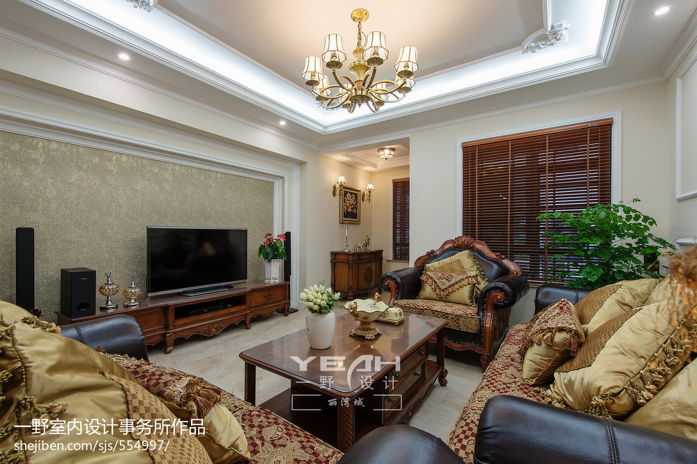 热门大小128平别墅客厅欧式效果图片大全