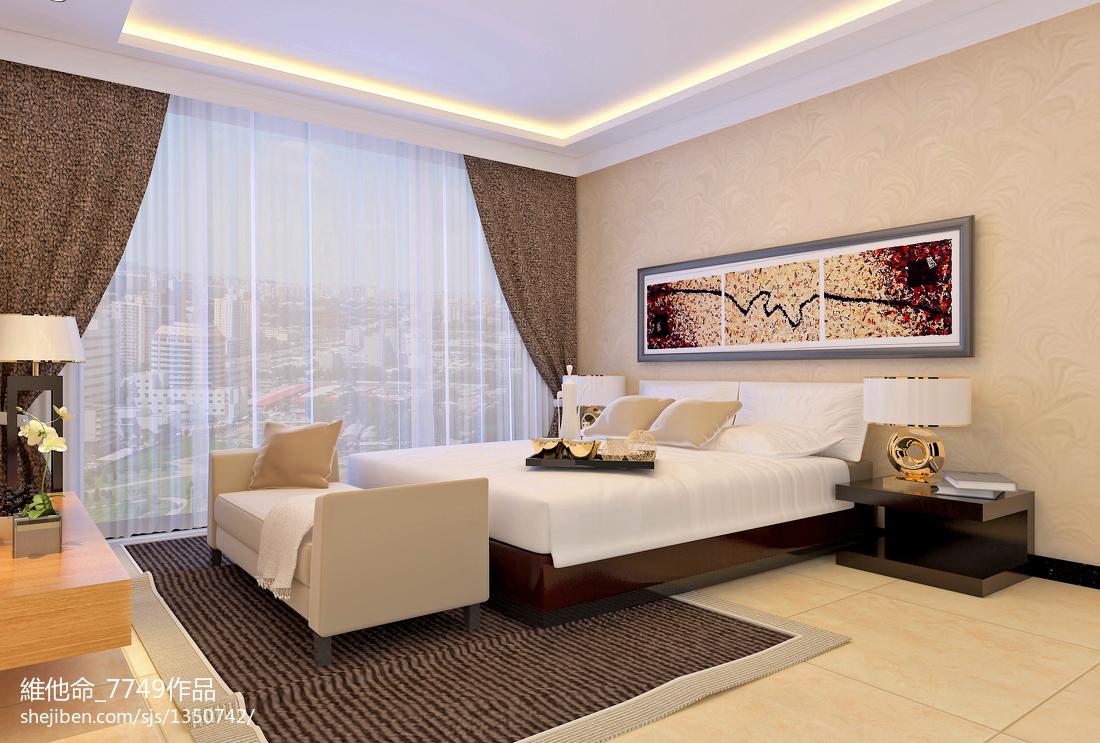 精美面积89平小户型卧室现代装修设计效果图片