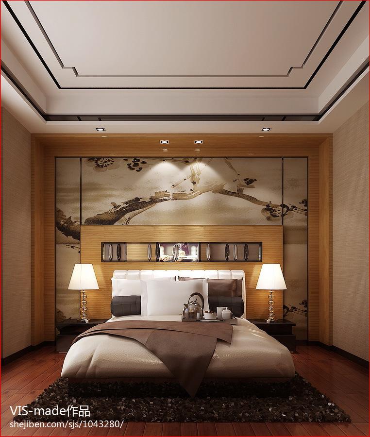 精美98平米三居卧室现代装饰图片大全