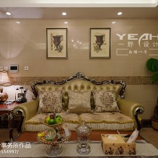 2018面积137平欧式四居客厅装修设计效果图片欣赏
