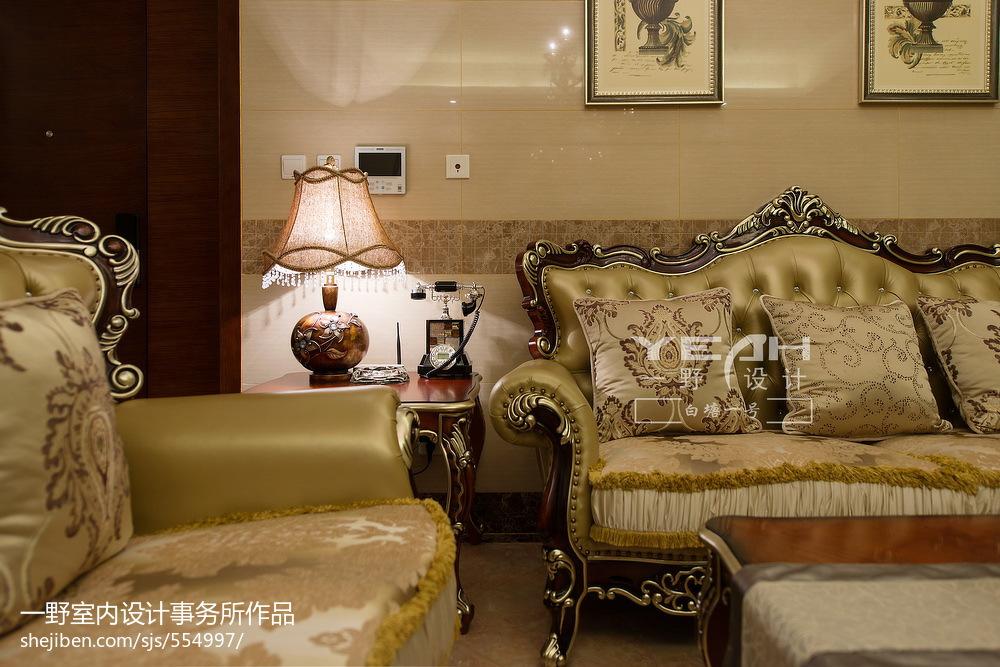 精选面积110平欧式四居客厅装饰图片