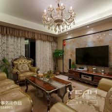 2018精选128平方四居客厅欧式效果图片欣赏