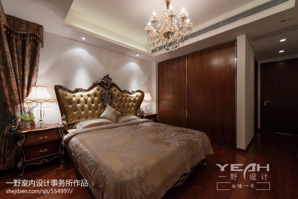 2018114平米四居卧室欧式装修图片