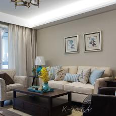 精美99平米三居客厅美式装修效果图