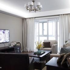 2018精选大小100平美式三居客厅装修效果图片