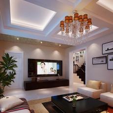 125平米现代别墅客厅装修实景图片
