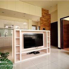 73平方二居客厅现代装修设计效果图片