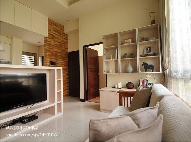 面积80平现代二居客厅装饰图片
