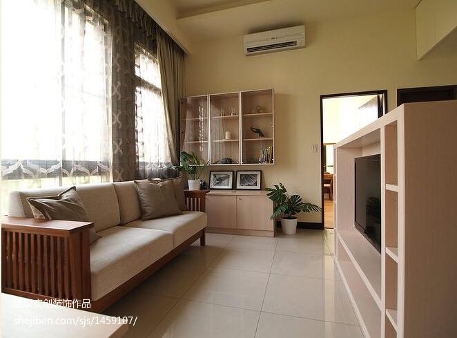 精选面积76平现代二居客厅装修设计效果图