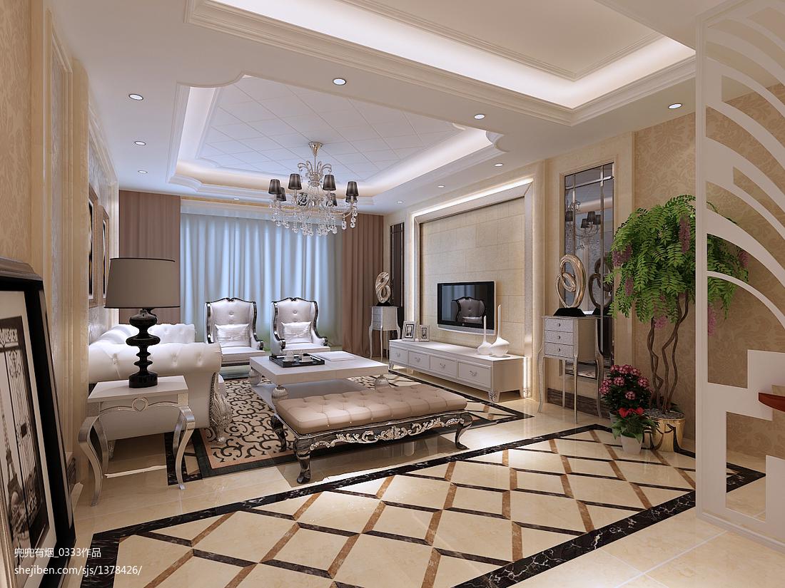 精致现代风格客厅室内装修图片
